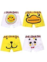 Boys 4-Pack Boxer Briefs Little Toddler Cotton Underwear for Kids