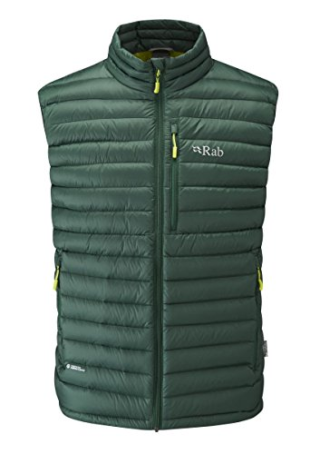 RAB Microlight Vest - Men's Fir/Lime Large