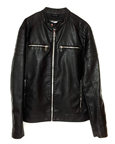 Zara Men Faux Leather Biker Jacket 8281/466 (X-Large) for sale  Delivered anywhere in USA