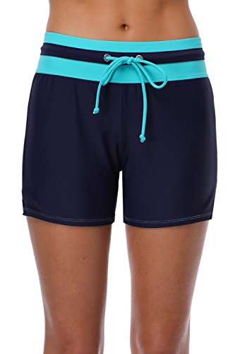 - Sociala Bathing Suit Bottoms for Women High Waisted Swimming Shorts XXL Navy