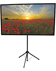 GO-90 Portable Projector Screen   90 inch   Mounts on Tripod and Wall   16:9 Format   10 lbs   2 min Setup   Includes Carrying Bag   for Mobile Presentation and Home Entertainment  4K Ultra HD Ready