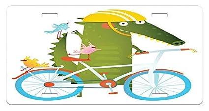 Amazon.com : Iliogine Funny Green Crocodile Yellow Hat Going ...