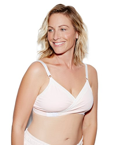 The Dairy Fairy Arden- All-in-One Nursing and Hands-Free Pumping Bra, Blush, Small