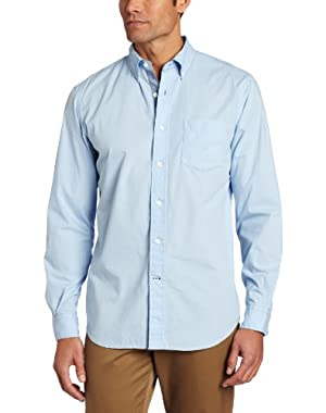 Men's Vineyard Poplin Solid Long Sleeve Shirt