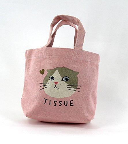 Tote Bag - Pink Cat - 5