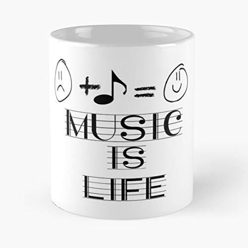 Melody Accompaniment Lyrics Chord - White -coffee Mug- Unique Birthday Gift-the Best Gift For Holidays- 11 Oz.