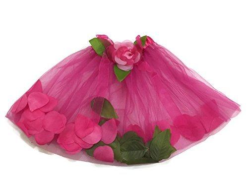 Rush Dance Flowers Green Petals Ballerina Girls Ballet Costume Recital Tutu (Kids (2-6 Years Old), Hot Pink)