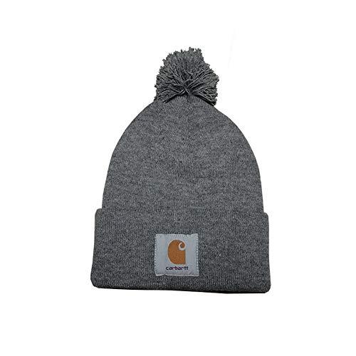 (Gjzww Autumn and Winter Knit hat Men's hat Solid Color hat Riding ski Headgear Outdoor Earmuffs Riding Unisex hat Headdress,Gray)