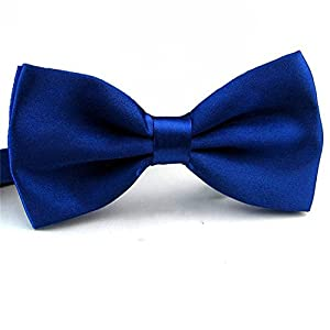 2016 Male Fashion Bow Tie For Wedding Party Mens Toddler Youth Boys Women Dog Royal Blue, One Size