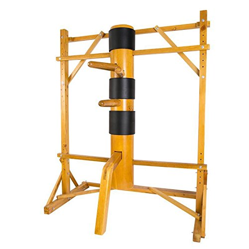 AUGUSTAPRO Wing Chun Wooden Dummy Mook Yan Jong Traditional Ip Man Wooden Dummy with Adjustable Stand - SOLID BODY M003