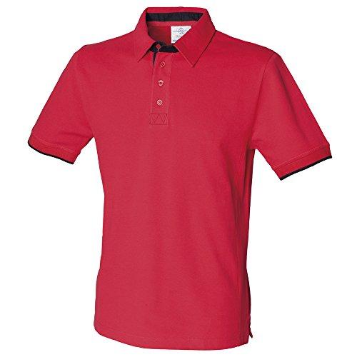 Front Row - Polo - para hombre Red/ Navy