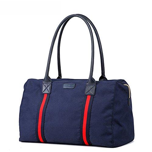 Versión coreana del bolso de la momia de la manera, bolso de hombro portable, bolso de múltiples funciones de la madre de gran capacidad, sale la bolsa de bebé ( Color : Azul oscuro ) Azul oscuro