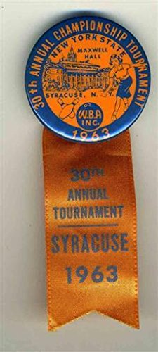 1963 New York State 30th Annual Championship WBA Bowling Tournament Pin Ribbon