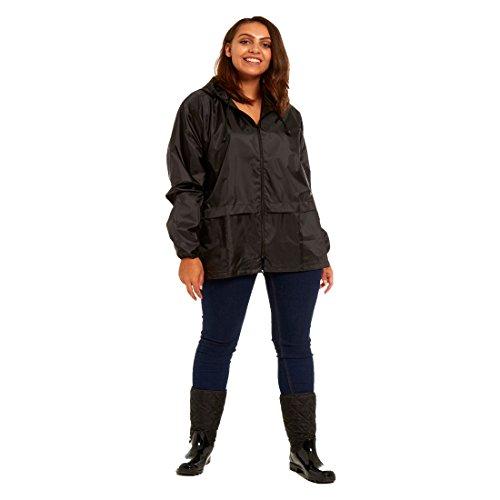 Coat Rain RainyDays Ubs kagoul Mac Lightweight Kagoul mac Kagool rd Unisex 5XL black S Jacket qIqaxwpt