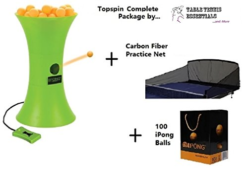 Ipong Topspin Complete Table Tennis Robot 100ct Balls