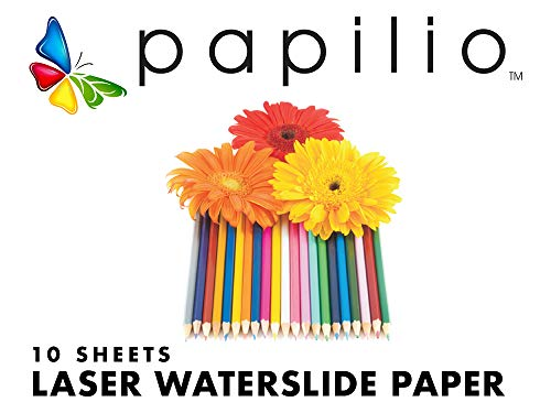 image relating to Papilio Printable Vinyl titled Papilio Laser Printer Waterslide Decal Paper -10 sheets, very clear