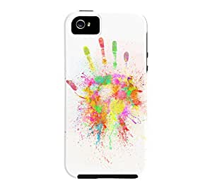Artist Hand iPhone 5/5s White Tough Phone Case - Design By Humans
