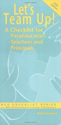 Let's Team Up: A Checklist for Paraeducators, Teachers and Principals
