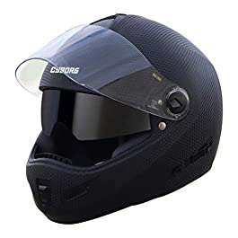 Steelbird Cyborg Double Visor Full Face Helmet, Inner Smoke Sun Shield and Outer Clear Visor (Large 600 MM, Dashing…