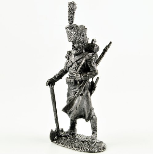 Italy. Naples Minesweeper - Kingdom of Naples 1815-1820. Metal sculpture. Collection 54mm (scale 1/32) miniature figurine. Tin toy soldiers (1816 Miniature)