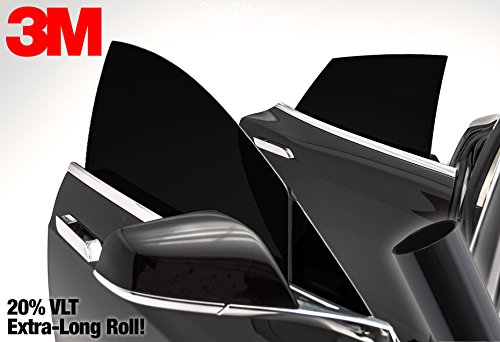 3M 20% VLT Dark Black Car Window Tint Vinyl Wrap Roll (20