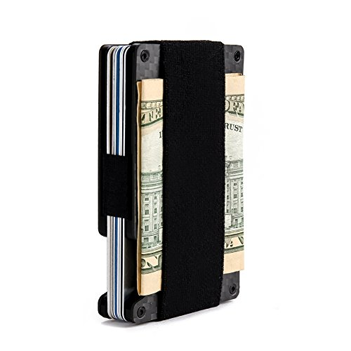 Rigid Wallet - Minimalist Aluminum Wallet, Slim Money Clip Metal Wallet RFID Front Pocket Wallet