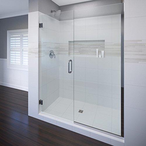 (Basco Celesta Shower Door, Fits 46.06 - 47 in. Opening, Clear Glass, Chrome Finish)