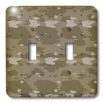 3dRose LLC lsp_36139_2 Desert Camouflage- Military- United States, Double Toggle Switch