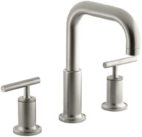 - KOHLER K-T14428-4-BN Purist Bath- or Deck-Mount High-Flow Bath Faucet Trim, Vibrant Brushed Nickel