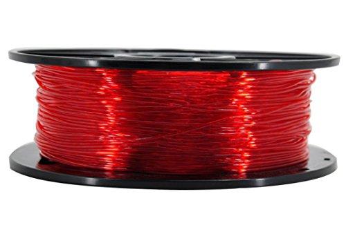 3D Flexible TPU 0.8KG 1.75mm Transparent Red Flexible TPU 3D Printer Filament, Diameter Tolerance +/- 0.05 mm, 0.8KG Spool, 1.75 mm, Transparent Red by EVERGREEN TREE