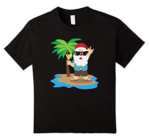 Kids Santa Hawaiian Shirt Christmas Party Cocktail Summer Tee 6 (Mean Girl Santa Costumes)