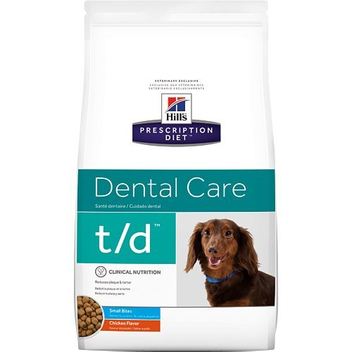 Hill's Pet Nutrition t/d Canine Dental Care Small Bites Prescription Diet Dry Dog Food, 5lb