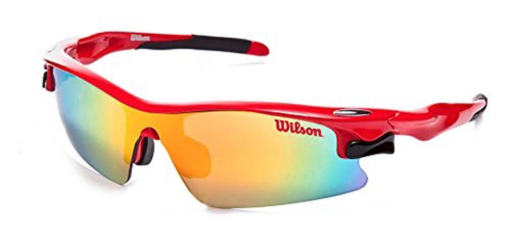 Wilson By American Vision Eyewear Red Changeable Mirrored Polar Optical Lenses