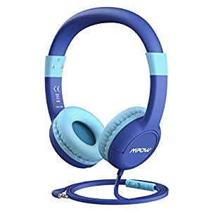 Mpow CH1S [Update] Kids Headphones w/85dB Volume Limited Hearing Protection & Volume w/Mic, On-Ear Headphones with Music Sharing Function, Best Children Headphones for School/Home/Travel