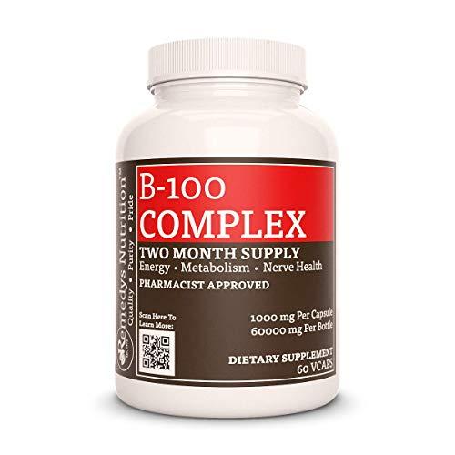Mega B-100 Remedy's Nutrition MEGA STRENGTH organic vegan 1000 mg per capsule/ 100.000 mg per bottle vcap