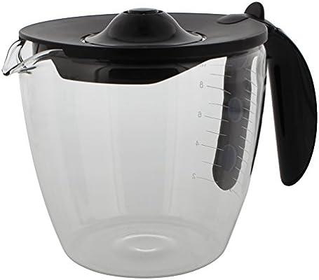 Codiac 340108 - Jarra de cristal de repuesto para cafetera Bosch (compatible con: TKA 6003V, 01/6631, 6721), color negro: Amazon.es: Hogar