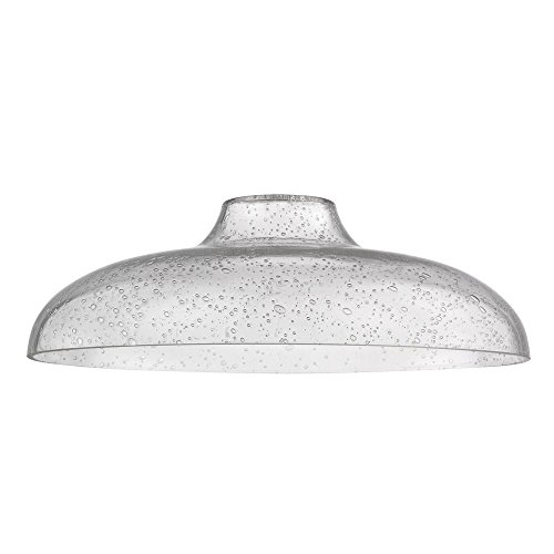 - Clear Seeded Glass Shade 14-Inch Wide 1.63-Fitter