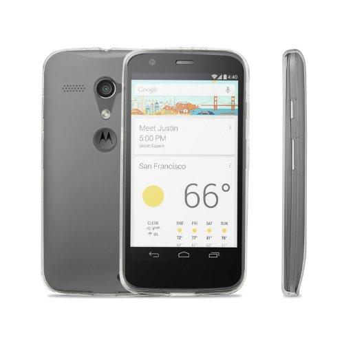 SOJITEK BPA-Free Motorola Moto X Phone Crystal Clear Transparent TPU Silicone Soft Plastic Cover Case