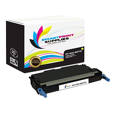 Smart Print Supplies Compatible 502A Q6472A Yellow Toner Cartridge Replacement for HP Color Laserjet 3600 3800 CP3505 Printers (4,000 Pages)