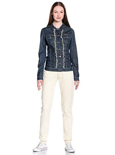 Carrera Bleu Western Normale Pour Jeans Blouson Style 120 Tissu Extensible Manche Foncé Femme Taille Longue Lavage 457 rxZrn