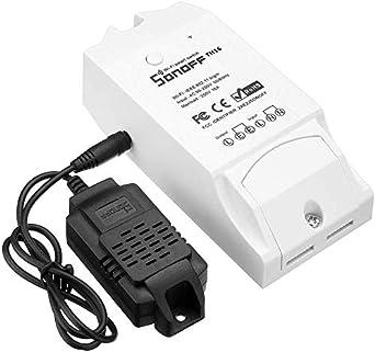 TH16 Commutateur ELENXS Smart Home Temp/érature Sonoff capteur /étanche Transmetteur dhumidit/é pour TH10