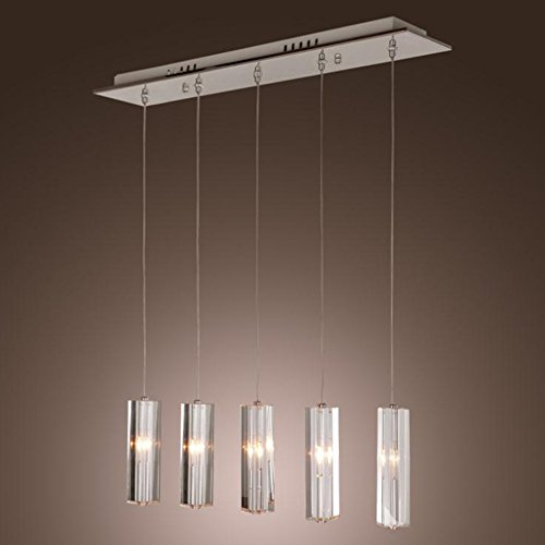 Yxx max Pendant Lights 5 Lamp Modern Crystal Chandeliers, Crystal Dining Chandeliers,