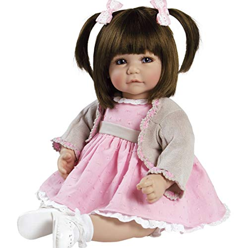 """Adora Toddler Sweet Cheeks 20"""" Girl Weighted Doll Gift Set for Children 6+ Huggable Vinyl Cuddly Snuggle Soft Body Toy"""