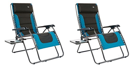 Westfield FC630-68080XL Extra Large Padded Zero Gravity Chair – Quantity 2