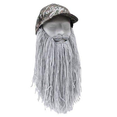 [Beard Head Duck Drake Camouflage Long Beard Baseball Cap, Grey, One Size] (Redneck Costumes For Women)