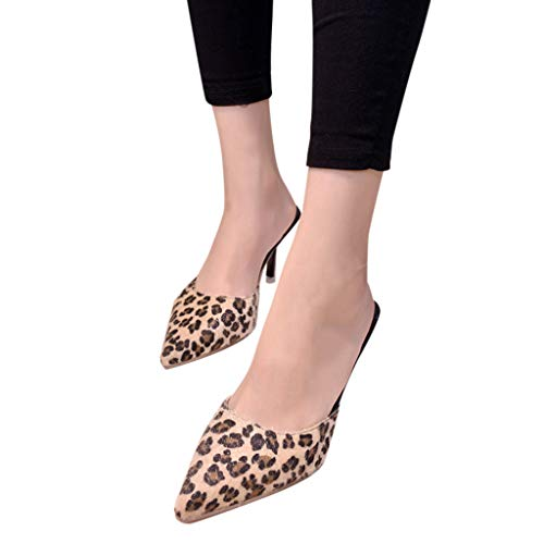 Sandales À Stiletto Pointu Femmes Talons Open De Heels Zyueer Hauts Léopard Jaune Femmes High Pour Bout Sandales Pour Toe À cgw0YfBFfq