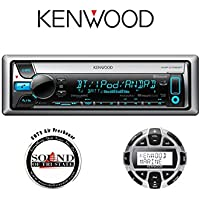 Kenwood KMR-D765BT Marine CD Player with Built in Bluetooth and KCA-RC55MR Marine Remote with a FREE SOTS Air Freshener