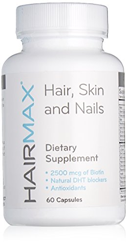 Price comparison product image HairMax For Hair, Skin and Nails Dietary Supplement, 60 Count