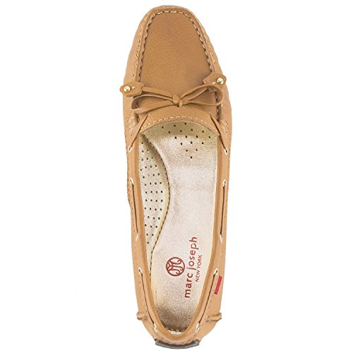Marc Joseph New York Womens Cipresso Collina Mocassino Tan Granuloso Genuino Leahter
