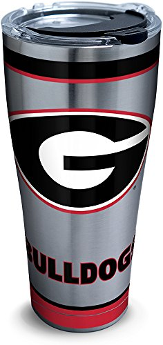 ia Bulldogs Tradition Stainless Steel Tumbler with Lid, 30 oz, Silver ()
